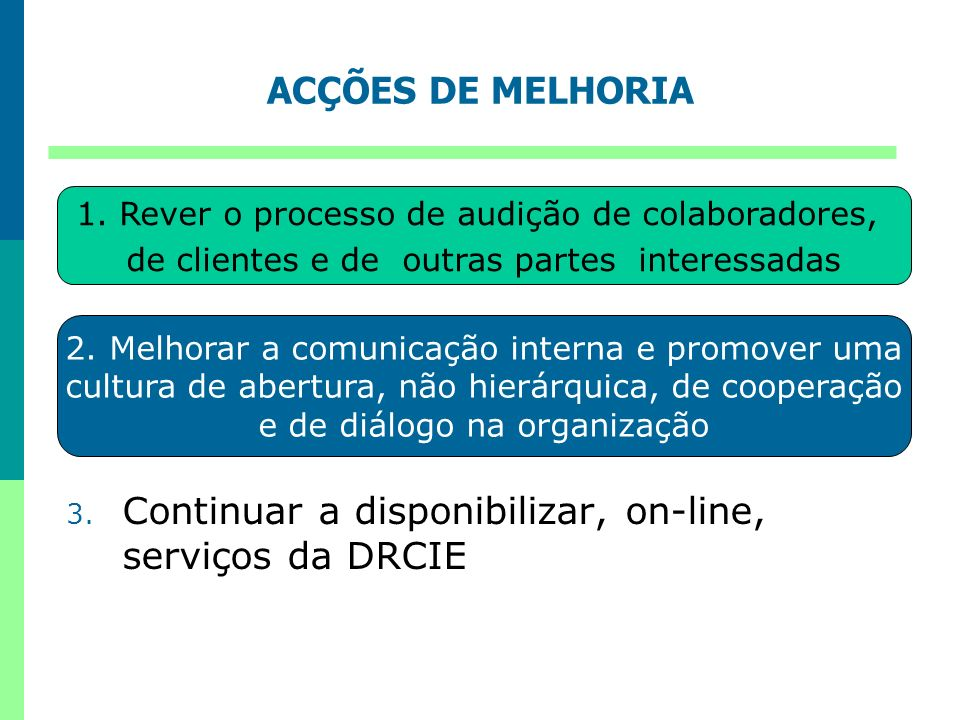 Continuar a disponibilizar, on-line, serviços da DRCIE