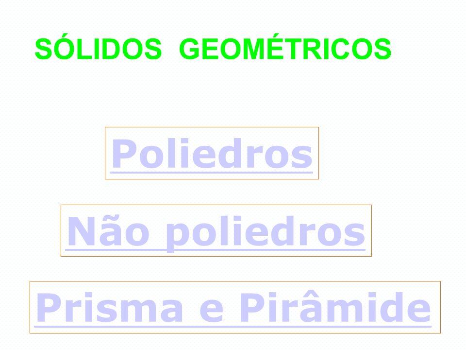 SÓLIDOS GEOMÉTRICOS Poliedros Não poliedros Prisma e Pirâmide
