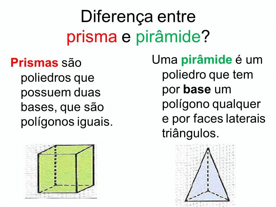 Diferença entre prisma e pirâmide
