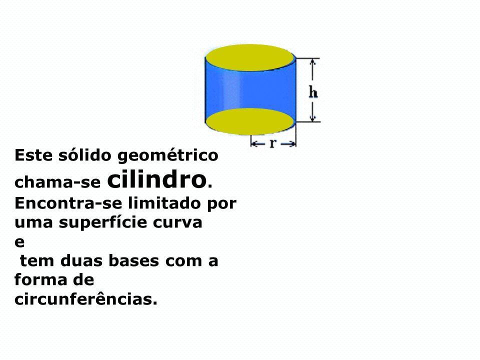 Este sólido geométrico chama-se cilindro