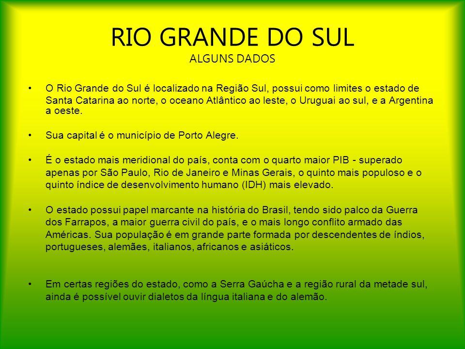 RIO GRANDE DO SUL ALGUNS DADOS