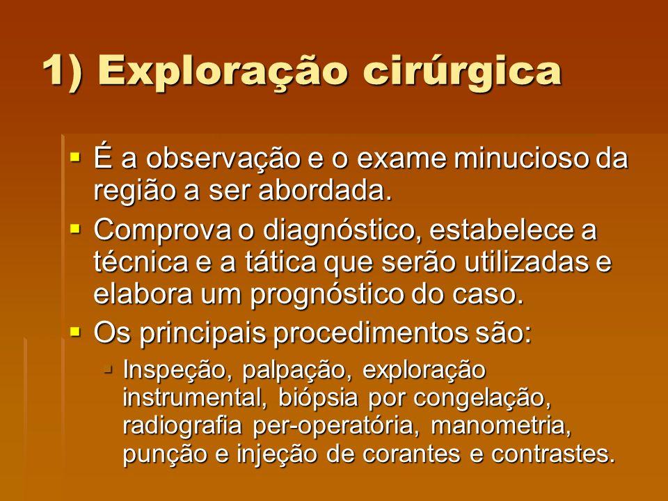 1) Exploração cirúrgica