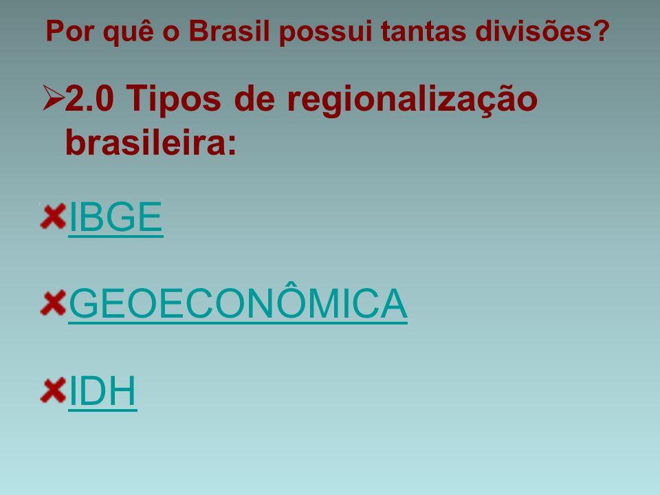 Por quê o Brasil possui tantas divisões