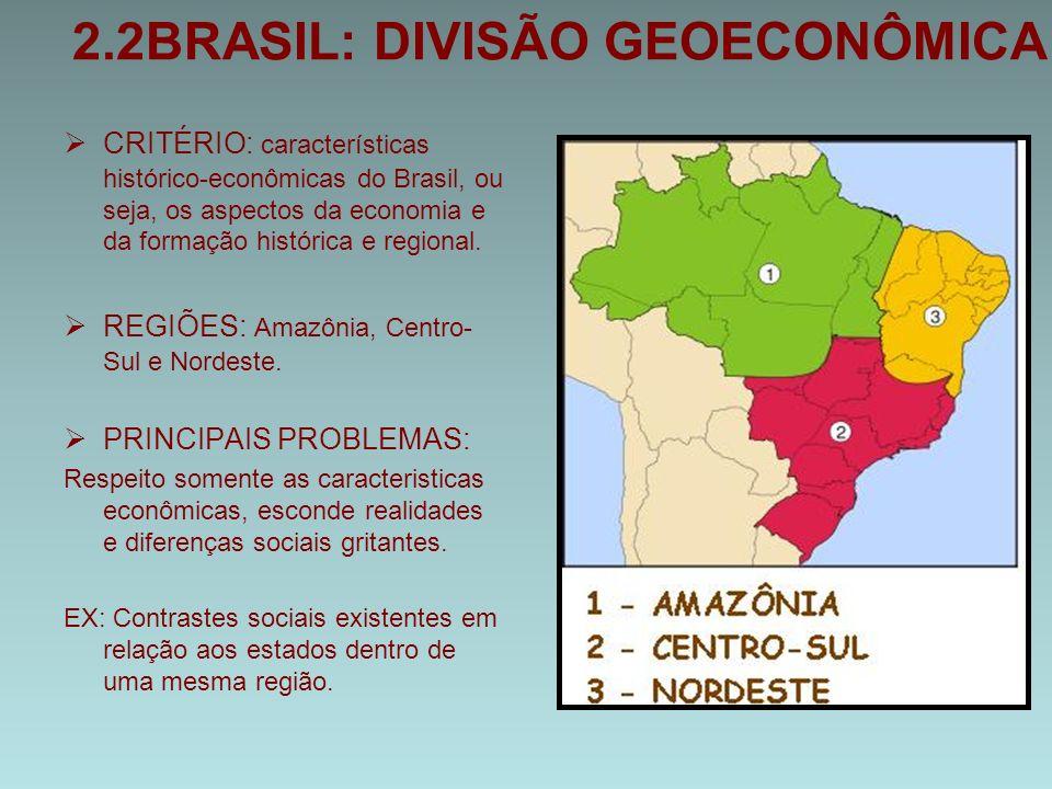 2.2BRASIL: DIVISÃO GEOECONÔMICA