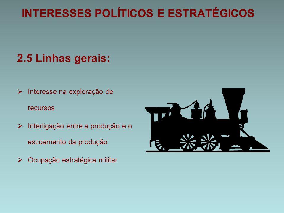 INTERESSES POLÍTICOS E ESTRATÉGICOS