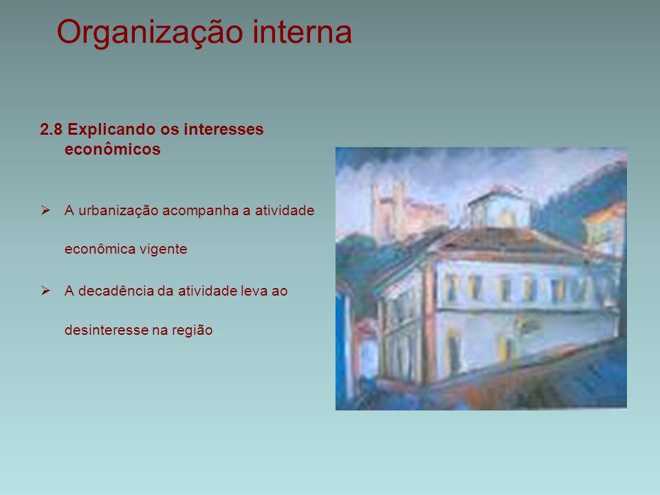 Organização interna 2.8 Explicando os interesses econômicos