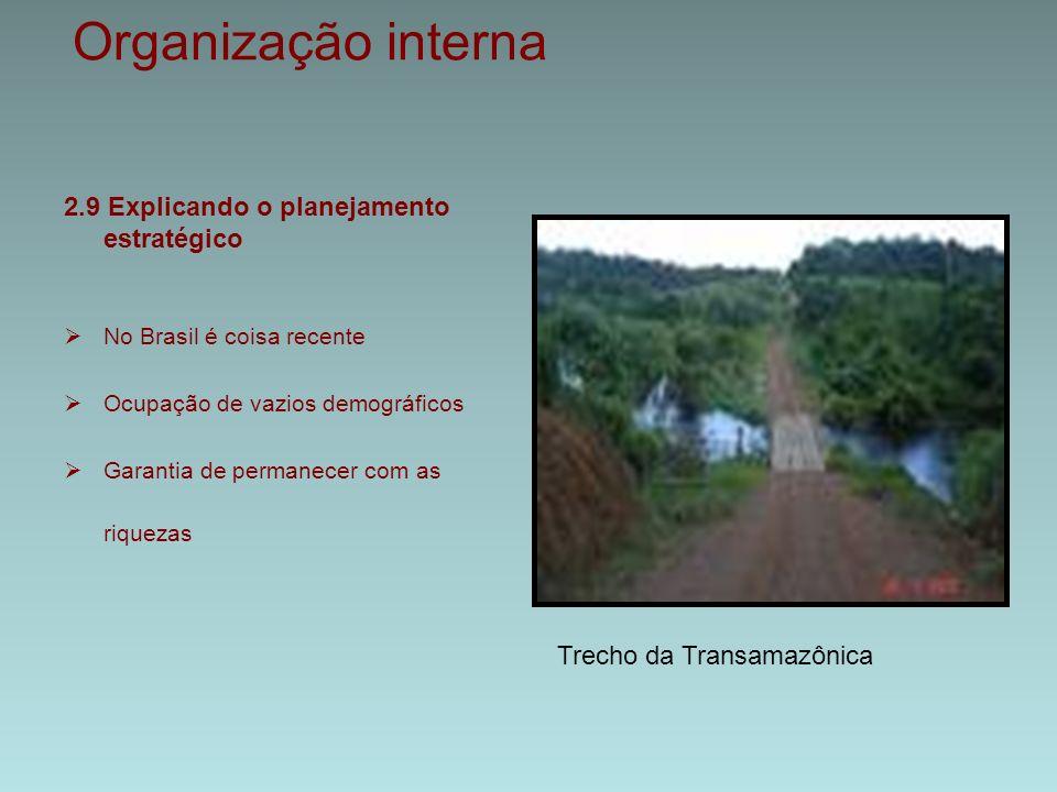 Organização interna 2.9 Explicando o planejamento estratégico