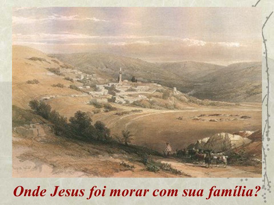 Onde Jesus foi morar com sua família