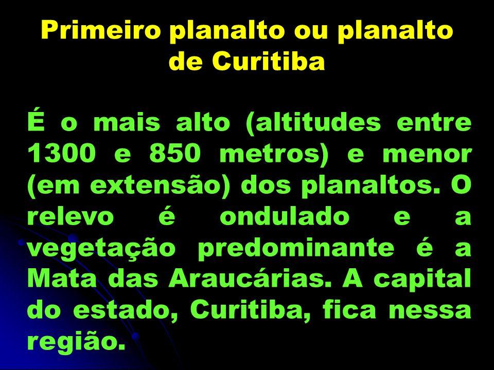 Primeiro planalto ou planalto de Curitiba