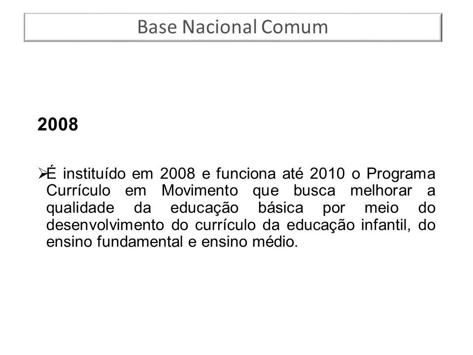 Base Nacional Comum 2008.