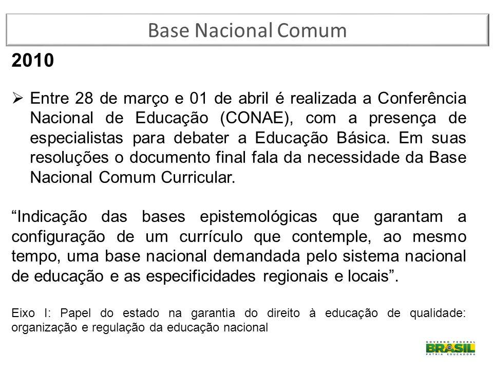 Base Nacional Comum 2010.