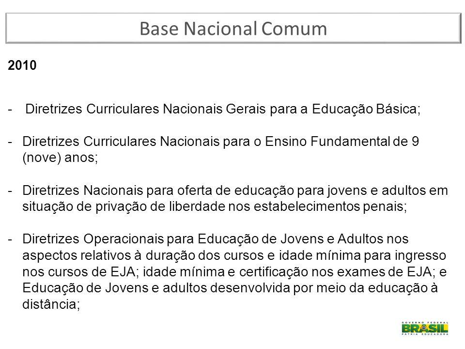 Base Nacional Comum 2010. Diretrizes Curriculares Nacionais Gerais para a Educação Básica;