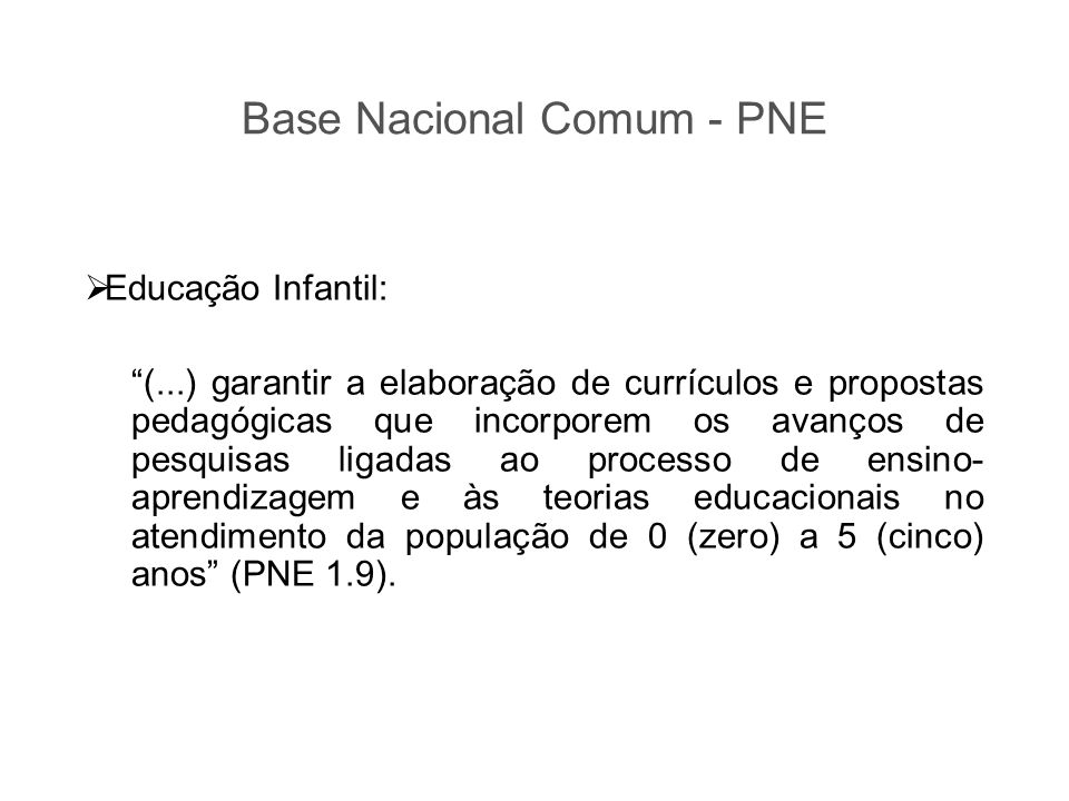Base Nacional Comum - PNE