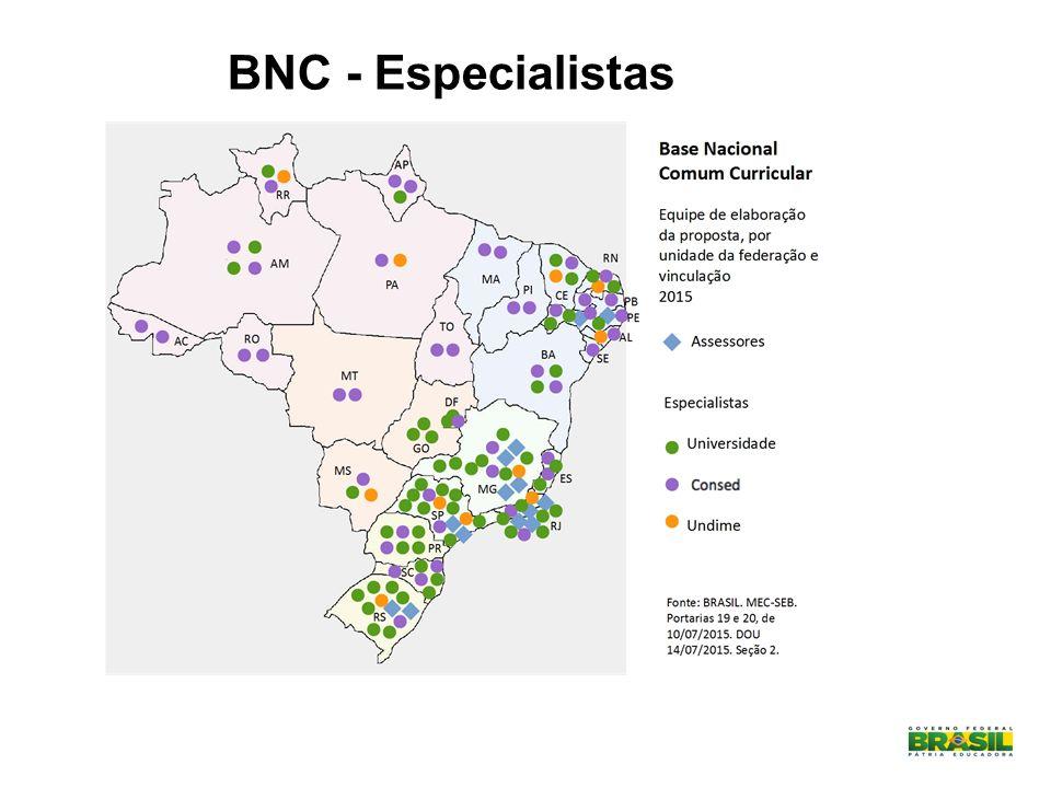 MAPA ELABORADO PELA EQUIPE GEOGRAFIA 2015 - BNCC