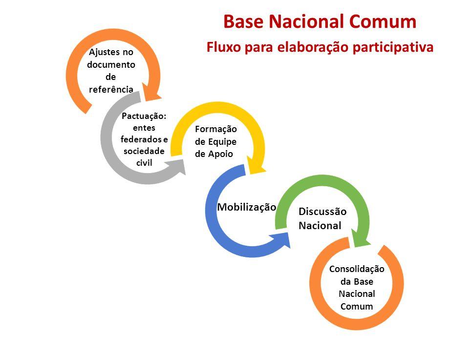 Base Nacional Comum Fluxo para elaboração participativa