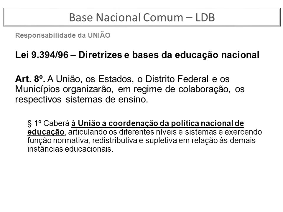 Base Nacional Comum – LDB