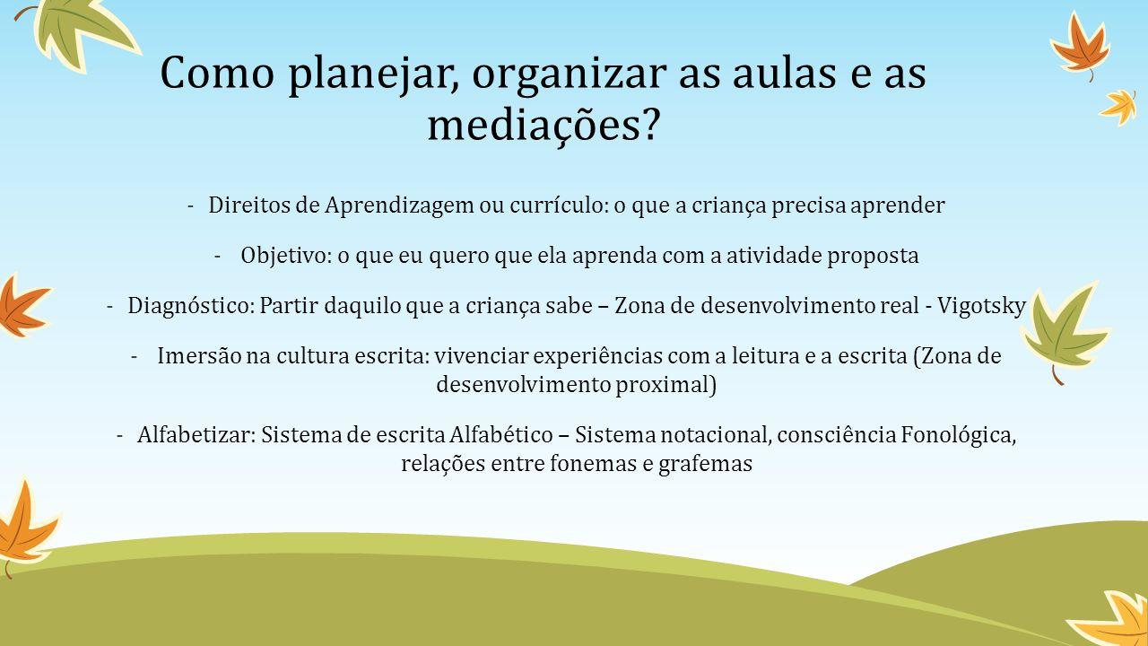 Como planejar, organizar as aulas e as mediações