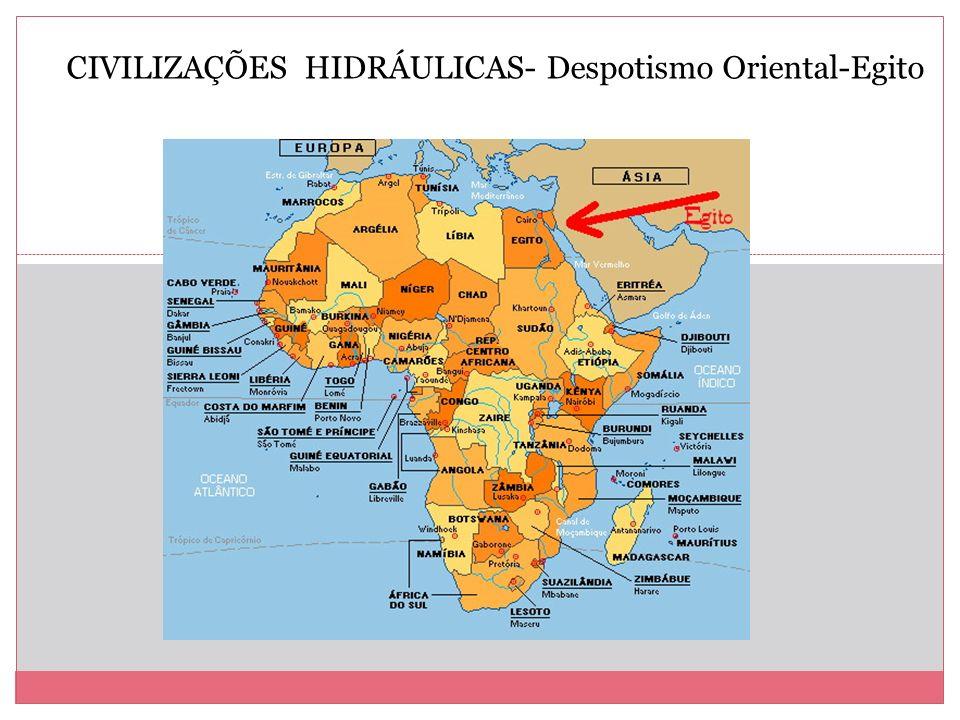 CIVILIZAÇÕES HIDRÁULICAS- Despotismo Oriental-Egito