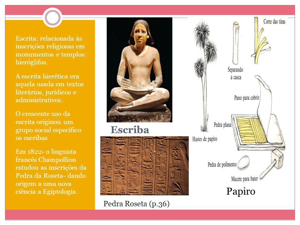 Escriba Papiro Pedra Roseta (p.36)