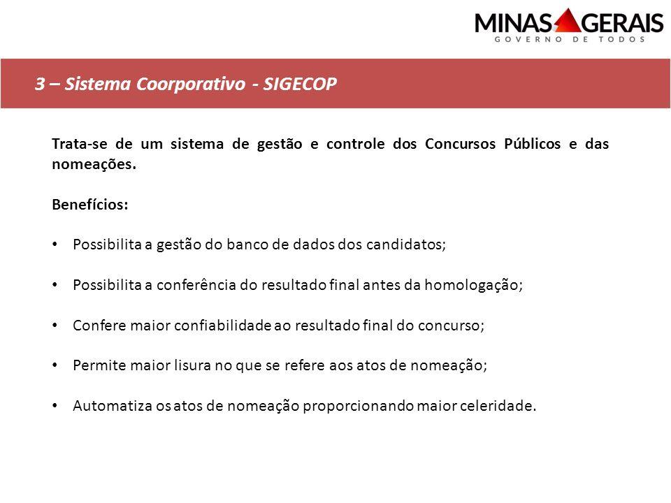 3 – Sistema Coorporativo - SIGECOP