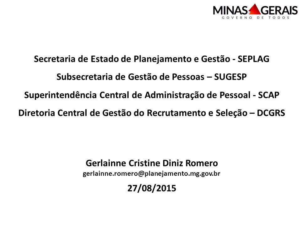 Secretaria de Estado de Planejamento e Gestão - SEPLAG