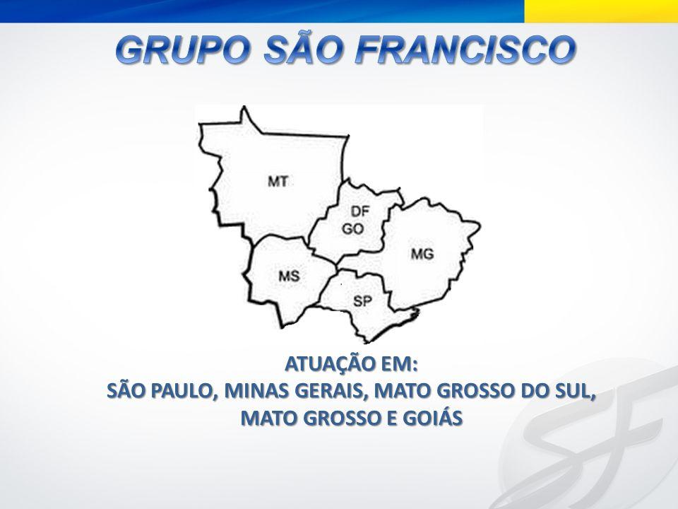 SÃO PAULO, MINAS GERAIS, MATO GROSSO DO SUL, MATO GROSSO E GOIÁS