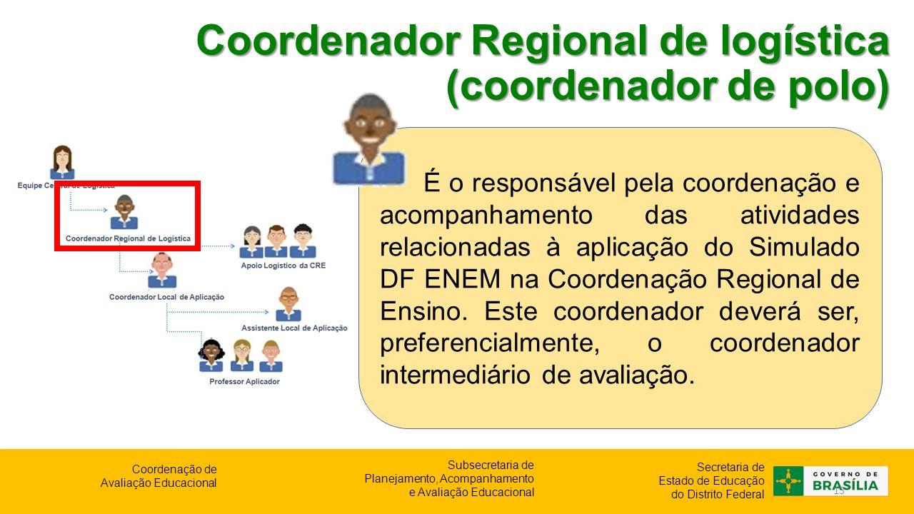 Coordenador Regional de logística (coordenador de polo)