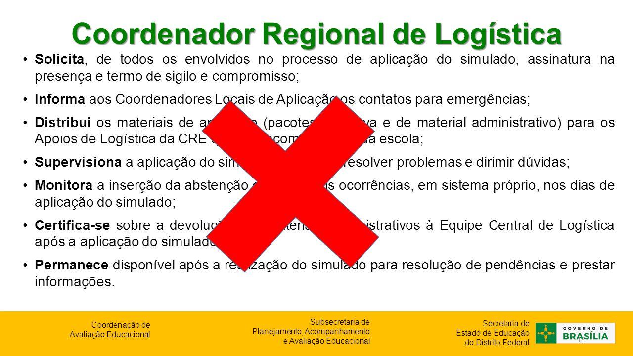 Coordenador Regional de Logística