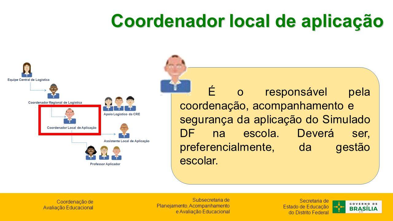 Coordenador local de aplicação