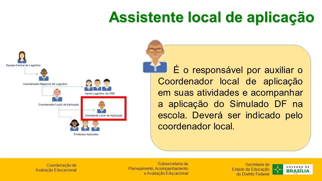 Assistente local de aplicação