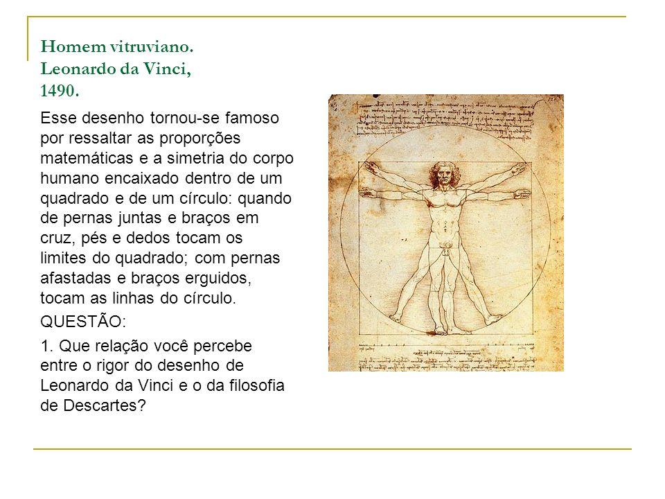 Homem vitruviano. Leonardo da Vinci, 1490.