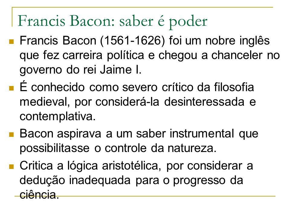Francis Bacon: saber é poder