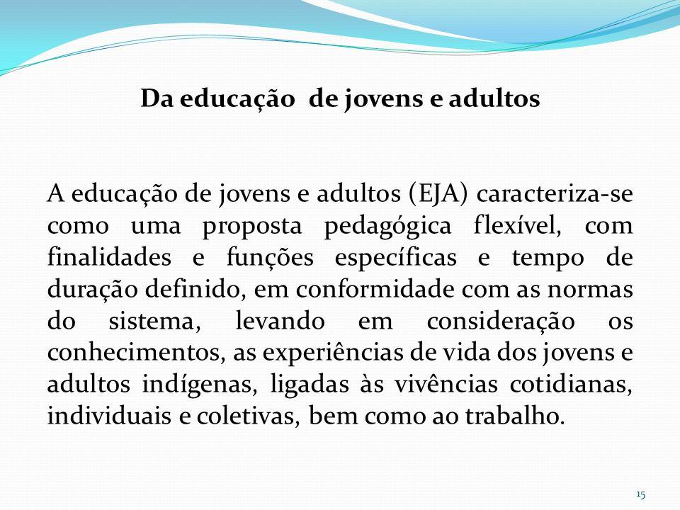 Da educação de jovens e adultos