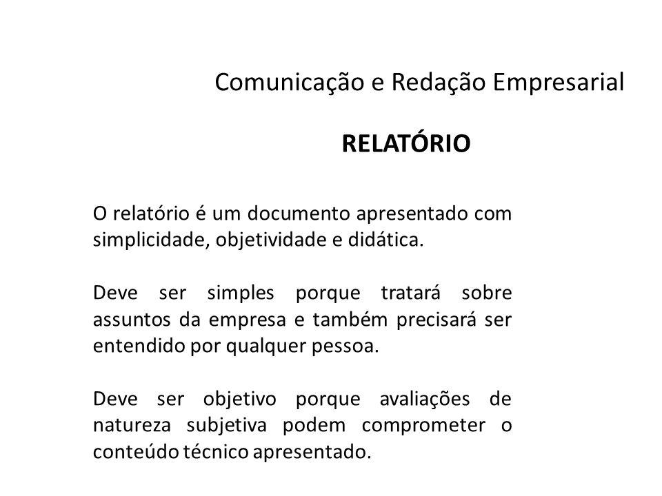 Um exemplo de relatorio simples