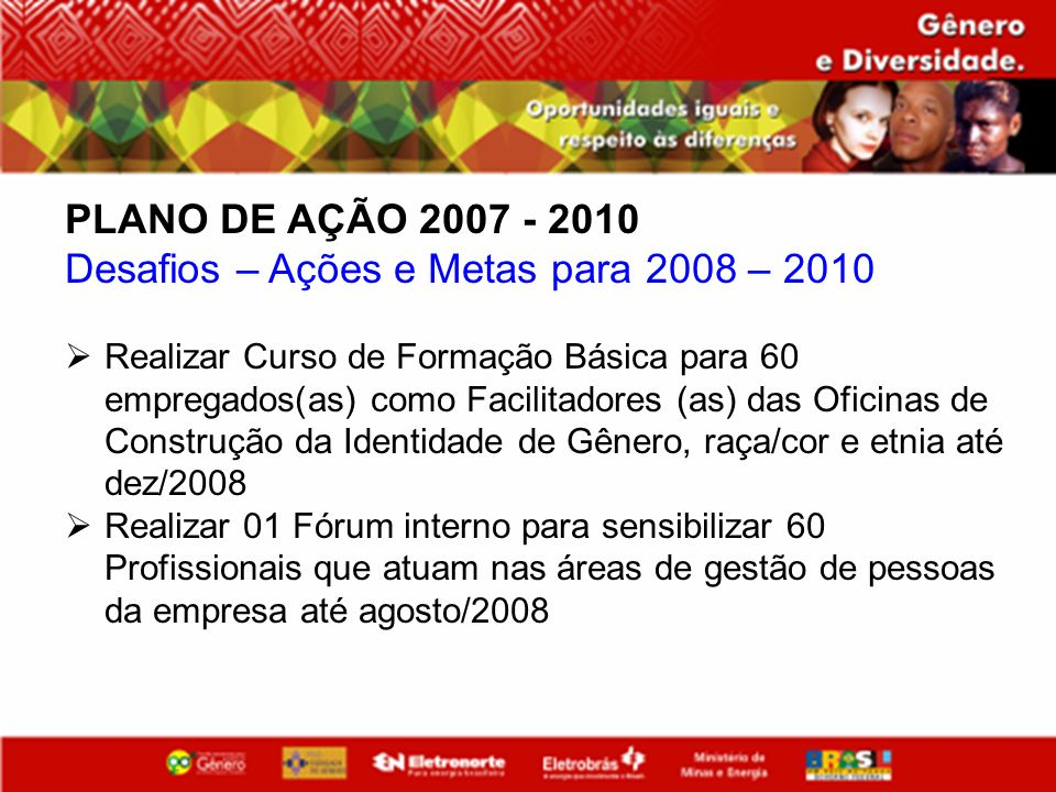 Desafios – Ações e Metas para 2008 – 2010