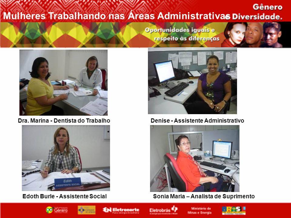 Mulheres Trabalhando nas Áreas Administrativas