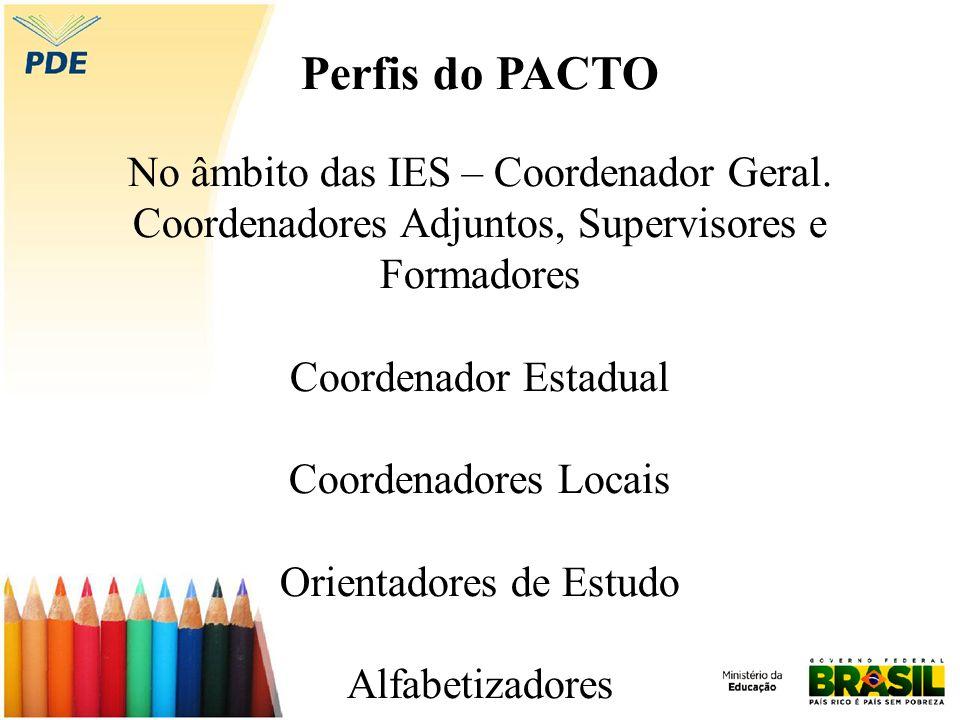 Perfis do PACTO No âmbito das IES – Coordenador Geral