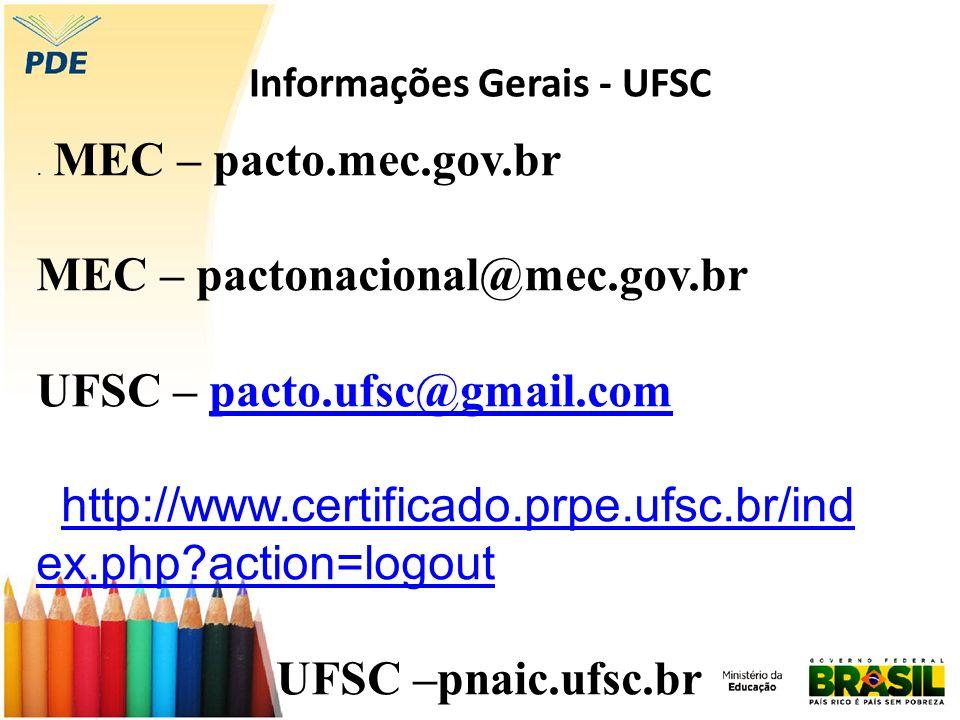 Informações Gerais - UFSC