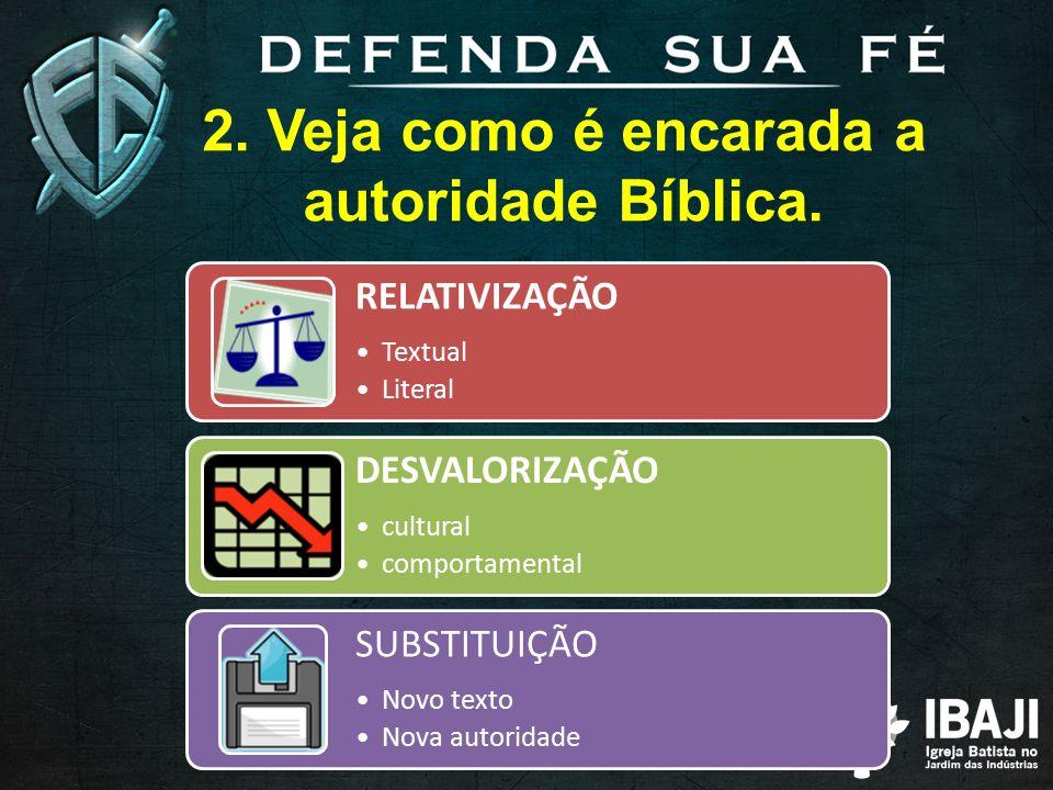 2. Veja como é encarada a autoridade Bíblica.