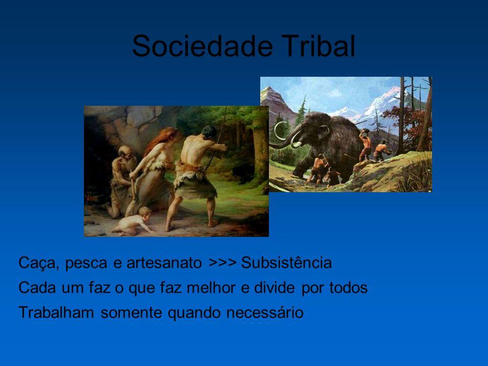 Sociedade Tribal Caça, pesca e artesanato >>> Subsistência