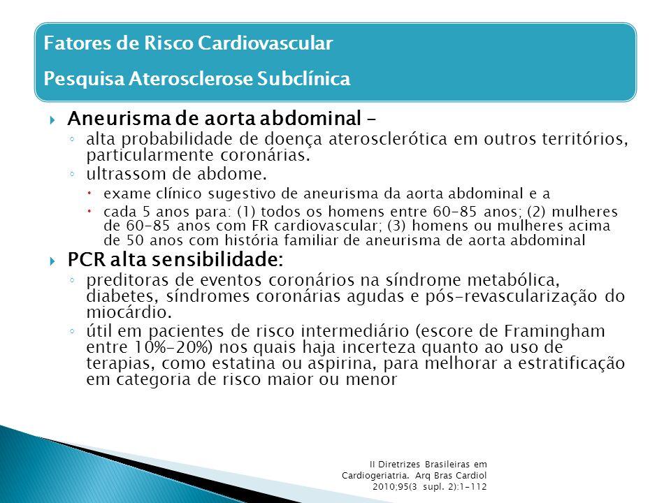 Aneurisma de aorta abdominal –