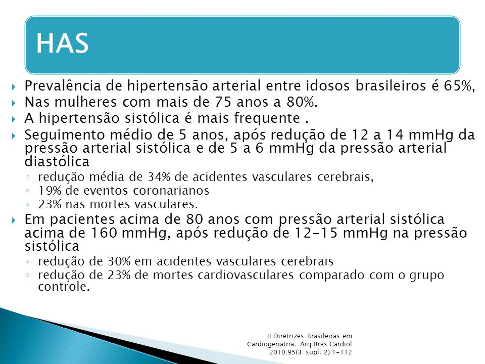 Prevalência de hipertensão arterial entre idosos brasileiros é 65%,