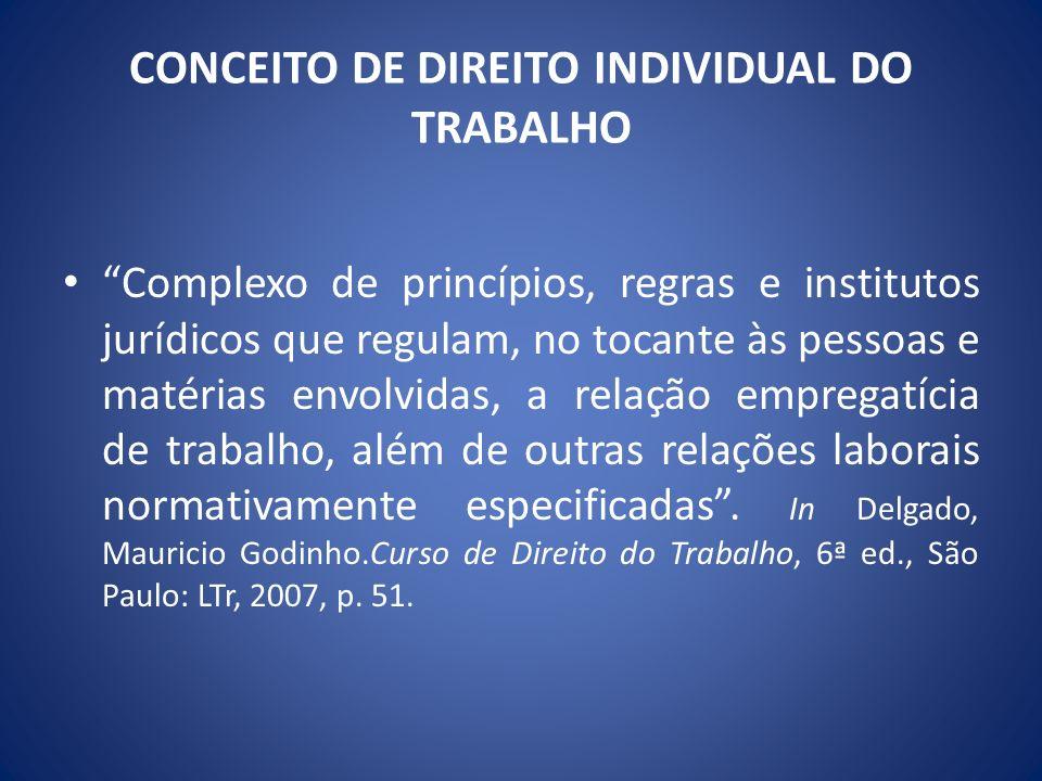 Direito do trabalho individual