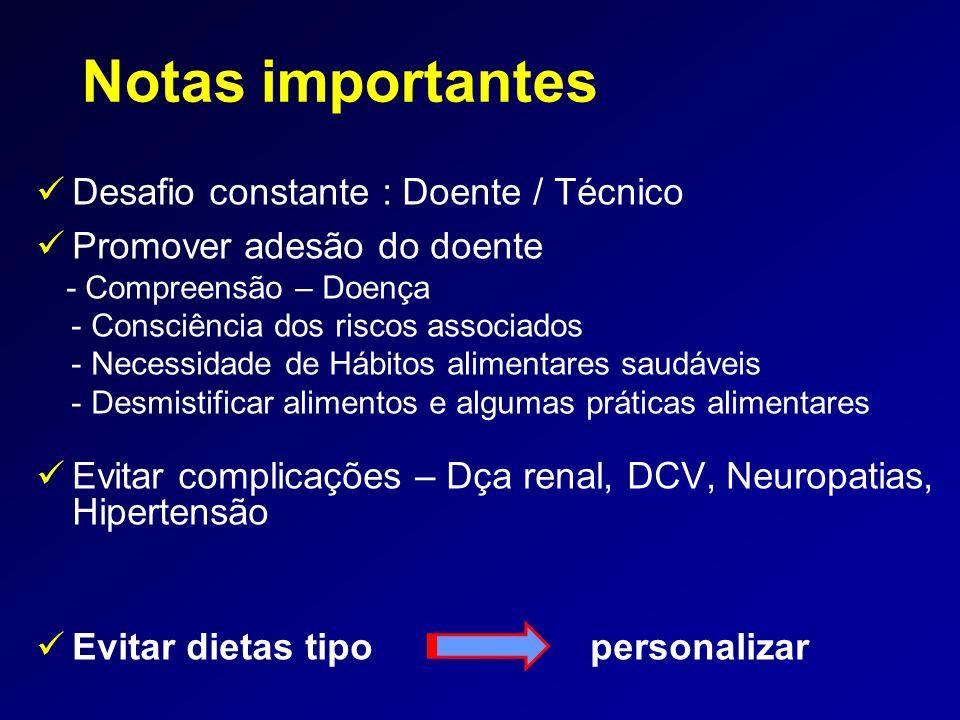Notas importantes Desafio constante : Doente / Técnico