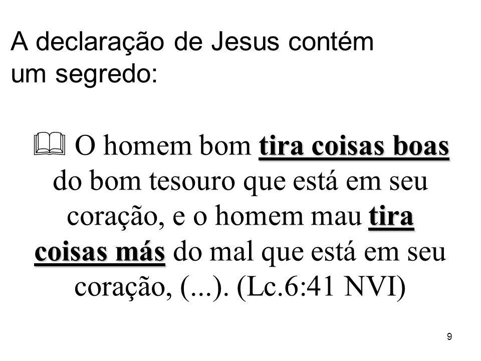 A declaração de Jesus contém um segredo: