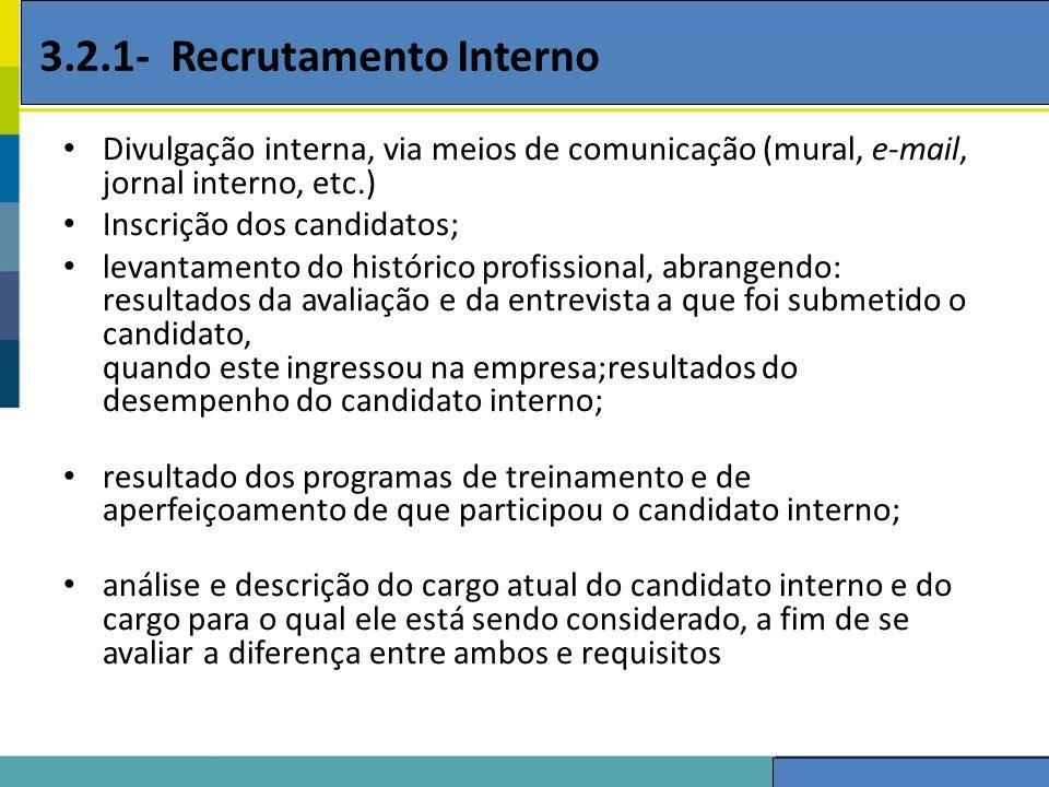 3.2.1- Recrutamento Interno