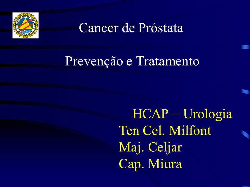 Cancer de Próstata Prevenção e Tratamento HCAP – Urologia Ten Cel. Milfont Maj. Celjar Cap. Miura