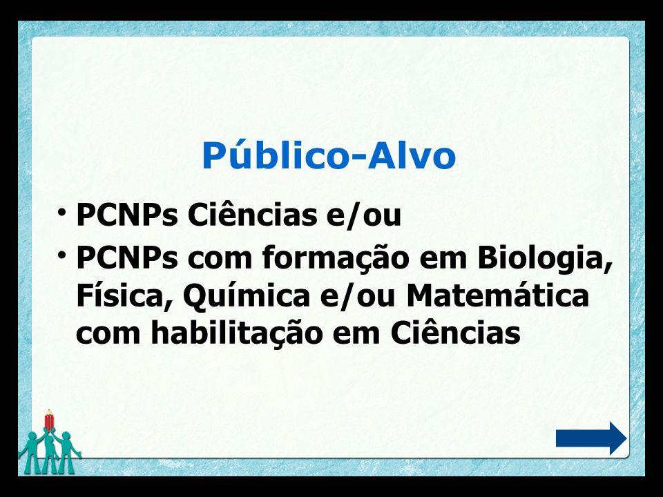 Público-Alvo PCNPs Ciências e/ou