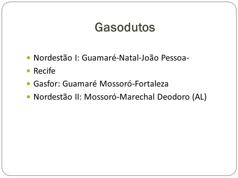Gasodutos Nordestão I: Guamaré-Natal-João Pessoa- Recife
