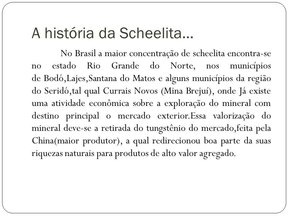 A história da Scheelita...